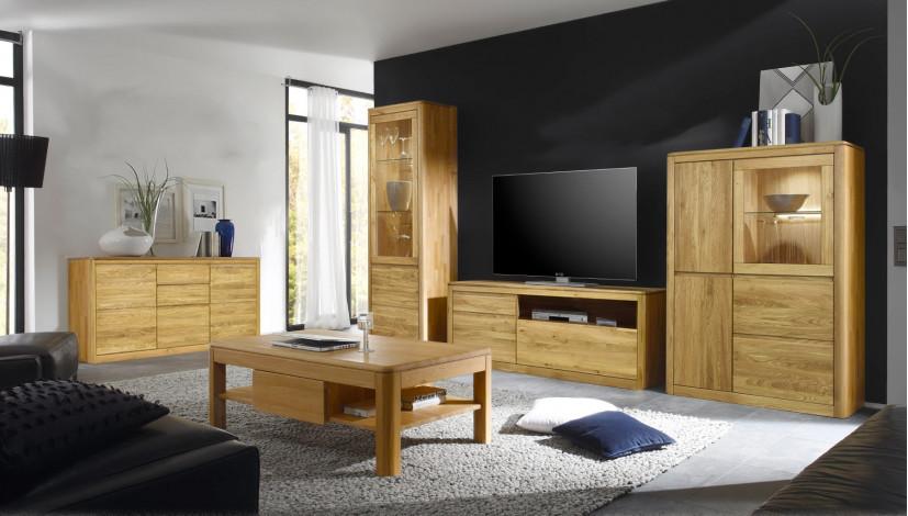 wohnzimmerm bel aus eiche. Black Bedroom Furniture Sets. Home Design Ideas