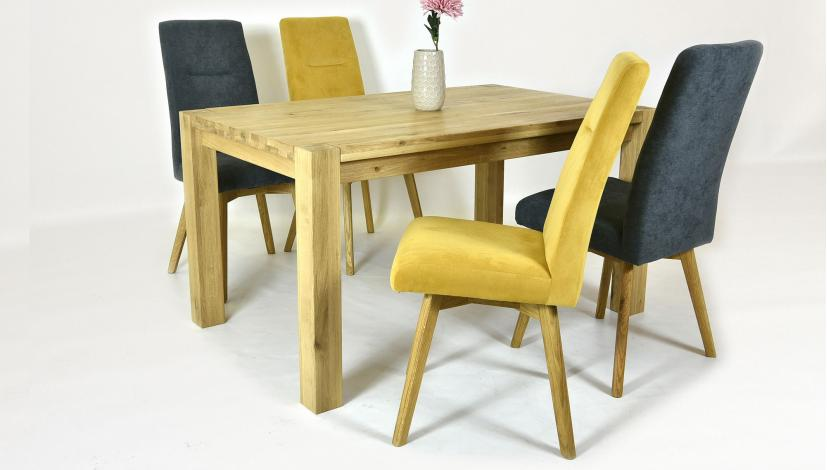 Esstisch Aus Massiv Und Stühle Tina 140 X 90 Cm 180 X 90