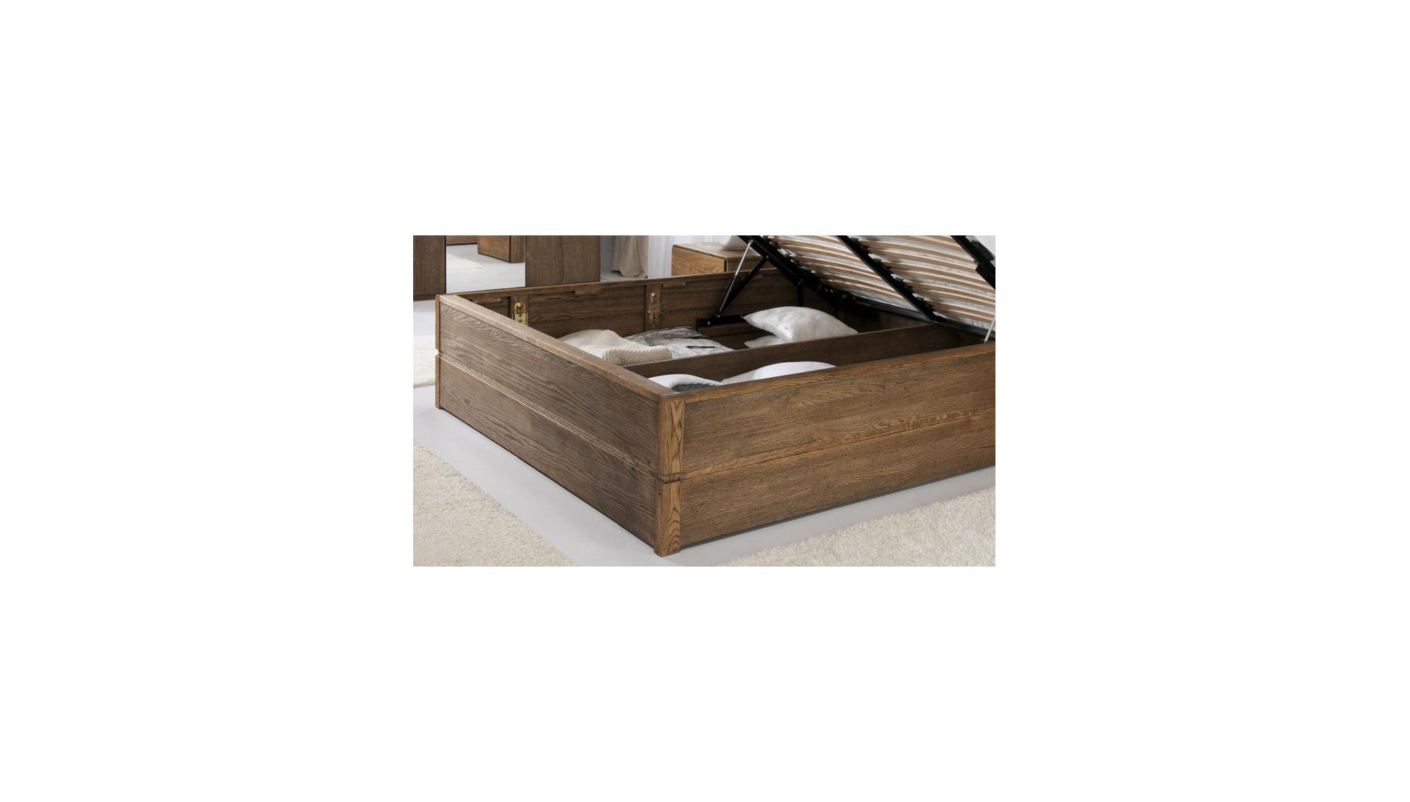 doppelbett mit stauraum 180 x 200 cm gebrannten eiche. Black Bedroom Furniture Sets. Home Design Ideas