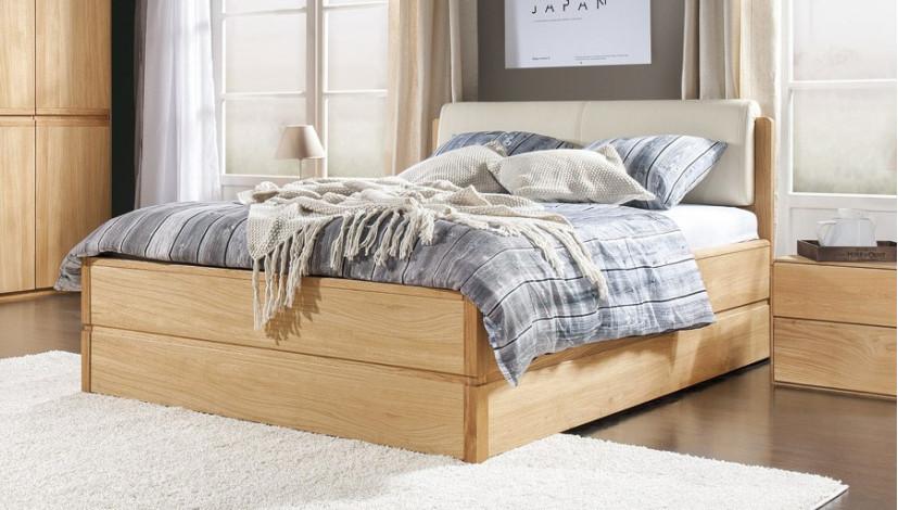 doppelbett mit stauraum 160 x 200 cm helsinki eichen l. Black Bedroom Furniture Sets. Home Design Ideas