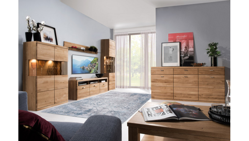 Wohnzimmermobel Aus Eiche Boston