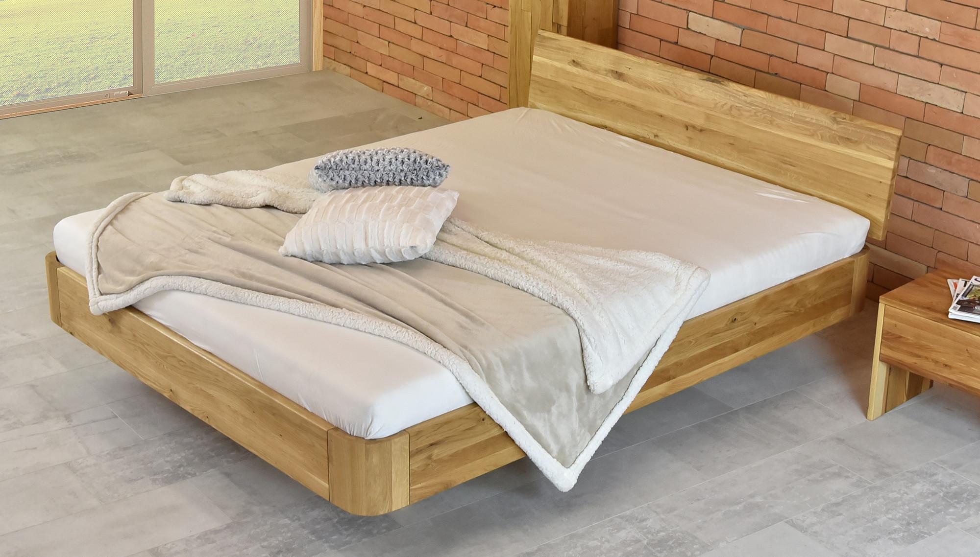 Luxuriöse abgerundete Doppelbett aus Eichenholz - Stockholm